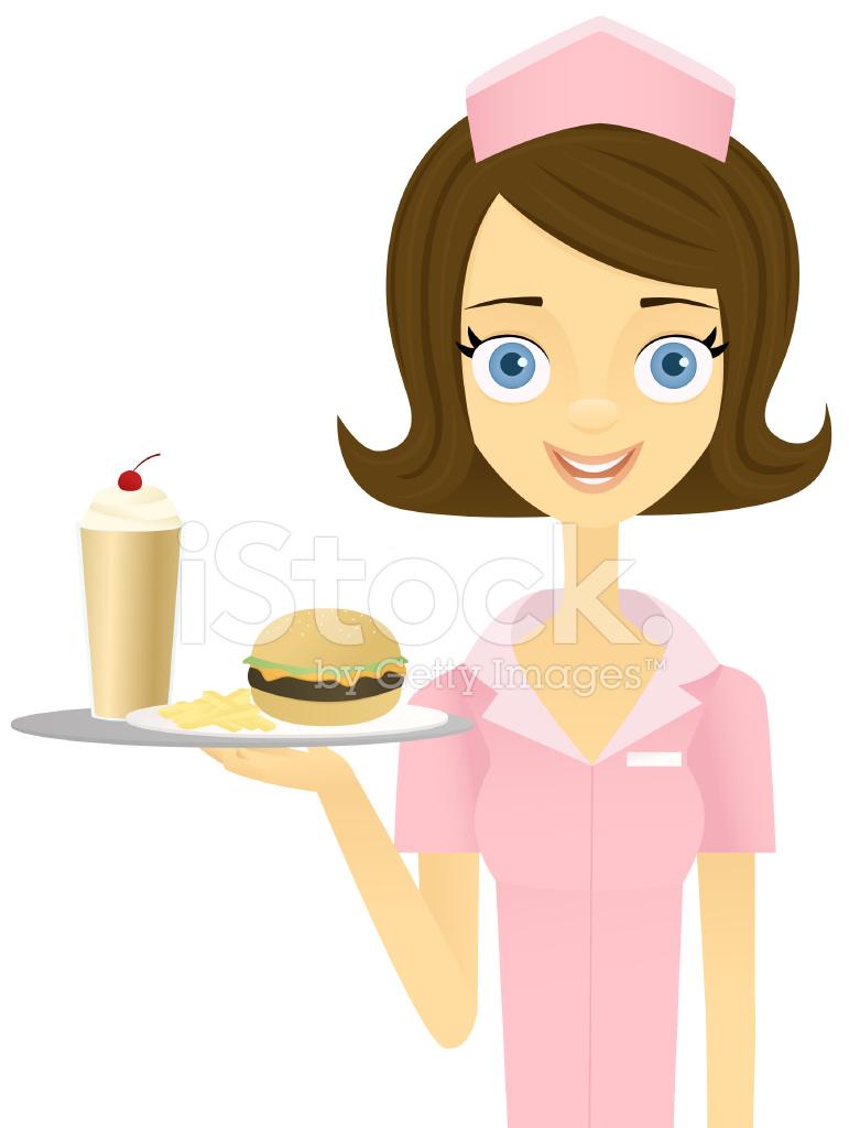 camarera retro stock vector freeimages com burger clip art png burger clip art free