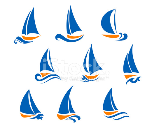 yachting and regatta symbols stock vector freeimages com