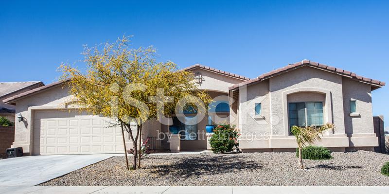 Arizona Style House Design Common To The Region Stock