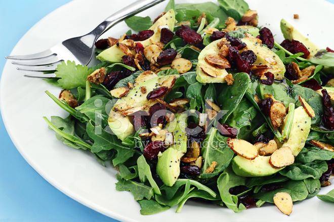 Spinach and Avocado Salad stock photos - FreeImages.com