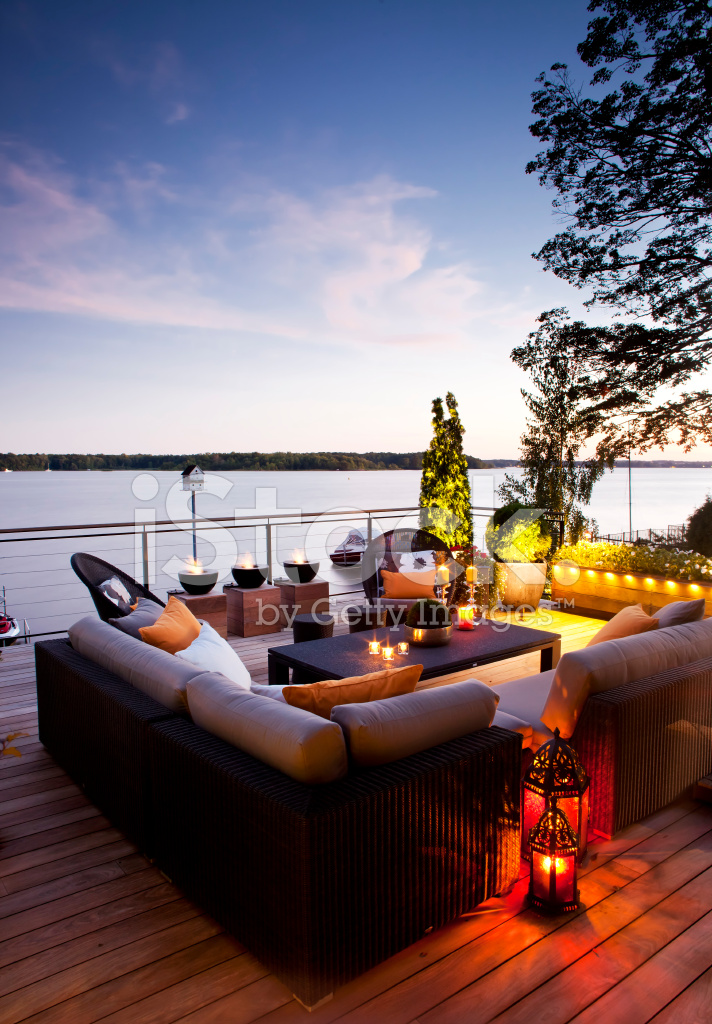 Patio Over Looking The Lake At Stock Photos Freeimages Com