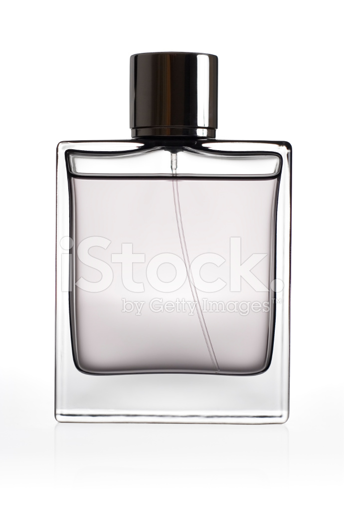 Perfume bottle isolated over a white background stock - Botellas para perfumes ...