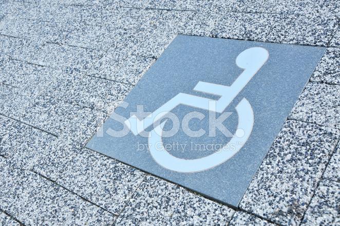 Rollstuhl Parkplatz Zeichen Auf Boden Stockfotos - FreeImages.com