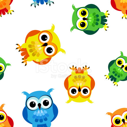Seamless cartoon owls stock vector freeimages premium stock photo of seamless cartoon owls voltagebd Images
