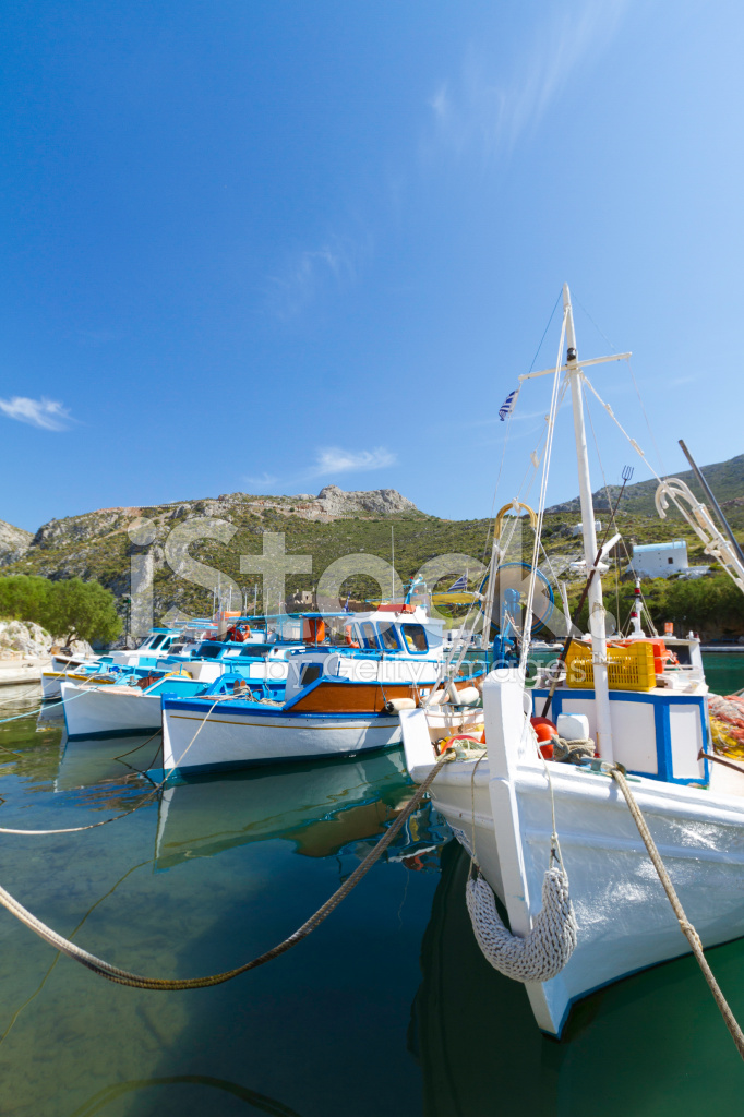 greek fishing village stock photos