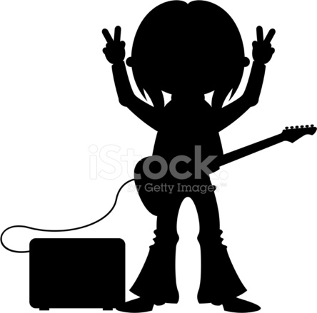 estrela do rock amp silhueta stock vector freeimages com