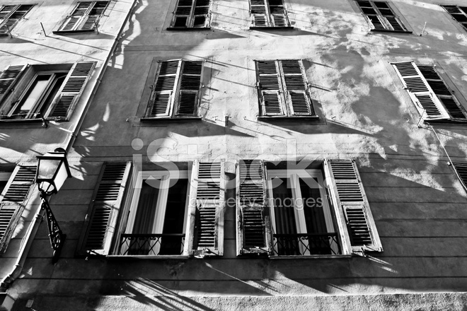 Old building and shadows in nice stock photos for Nice building images