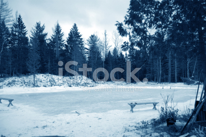 Ice Hockey Frozen Pond Rink Stock Photos Freeimages Com