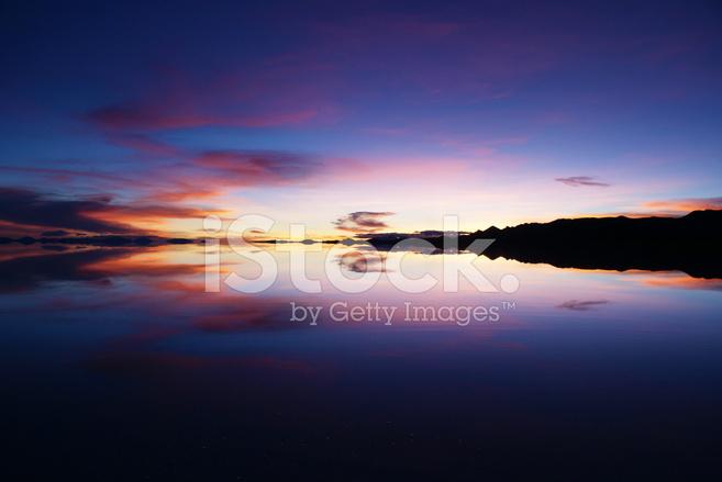 Sunset In Salar De Uyuni Bolivia Stock Photos Freeimages Com