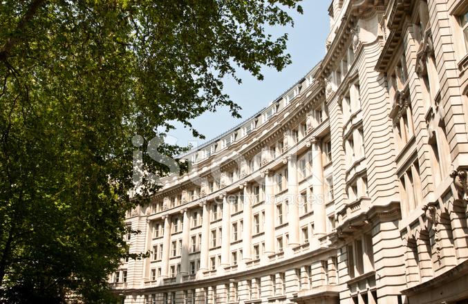 Premium Stock Photo Of London Architecture Classic Building Facade Behind Lush Tree