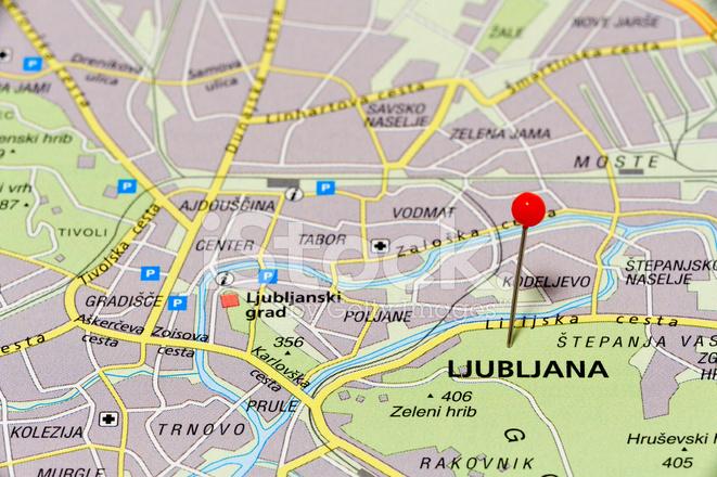Map Of Ljubljana Stock Photos Freeimages Com
