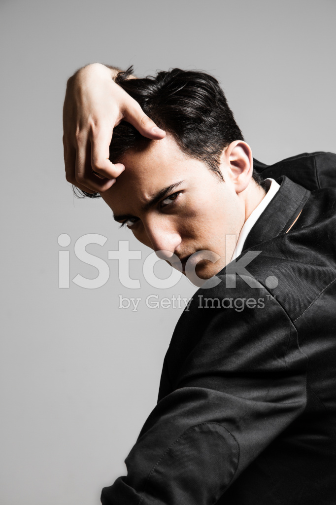 Serious Male Model Looking Over Shoulder Stock Photos Freeimages Com