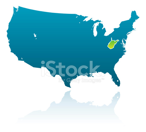 Virginia United States Map.United States Maps West Virginia Stock Vector Freeimages Com