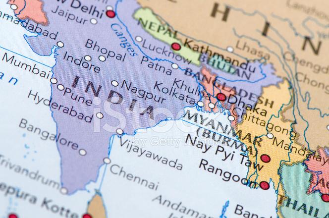 Indien Karta Stockfoton Freeimages Com