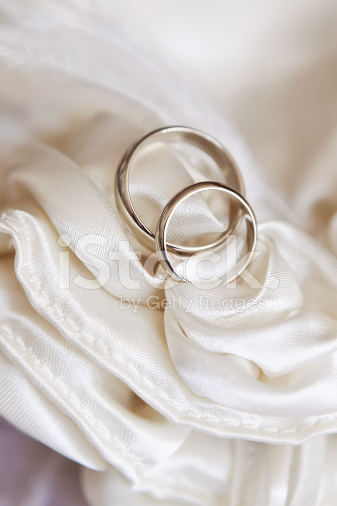 Wedding Rings On White Satin Fabric Stock Photos Freeimages Com