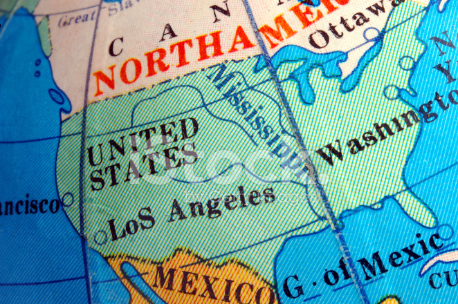 USA Karte Auf Kleinen Terrestrischen Globus Stockfotos - FreeImages.com