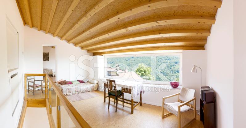 interior modern chalet stock photos. Black Bedroom Furniture Sets. Home Design Ideas