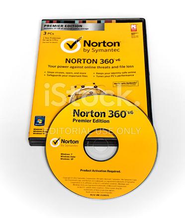 Antivirus Norton 360 V6 Premier Edition Stock Photos