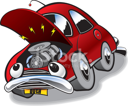 Cartoon Of AN Old Broken Down Car Stock Vector FreeImagescom