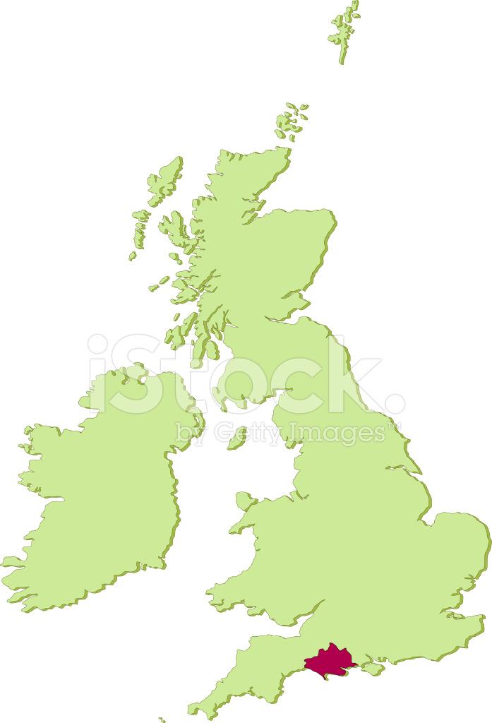 Map Of Uk Dorset.Uk Dorset Map Stock Vector Freeimages Com