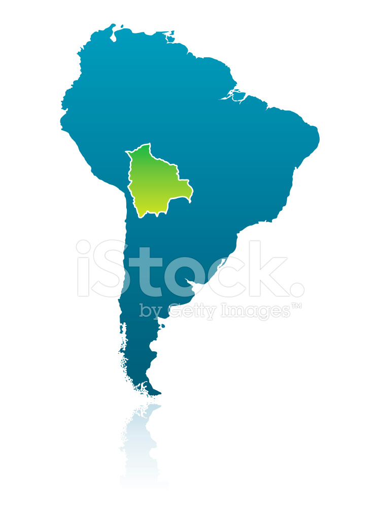 South American Map: Bolivia Stock Vector - FreeImages.com