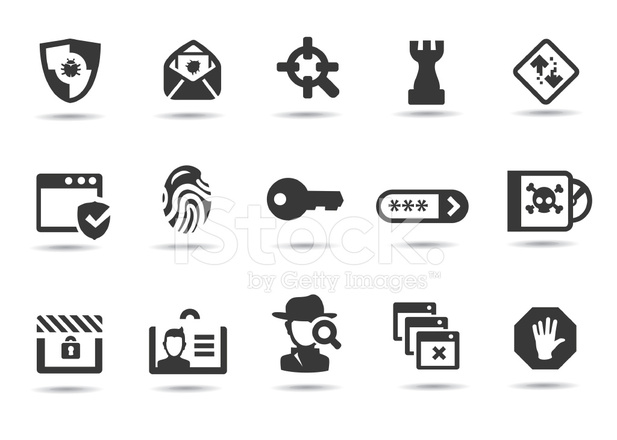 network security icons stock vector