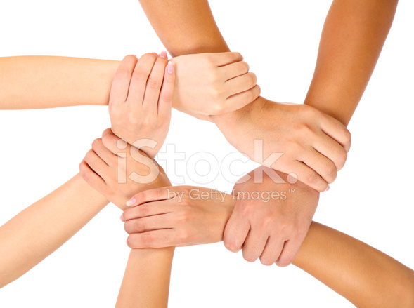People Holding Hands In Unity