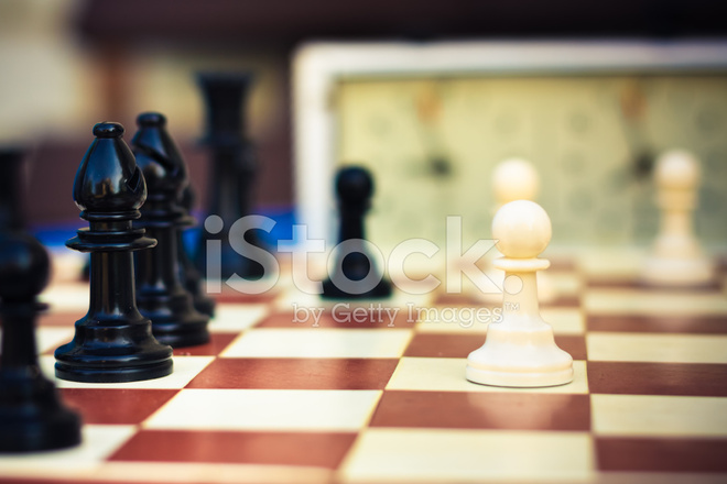 Set Of Chess Figures On The Playing Board Stock Photos