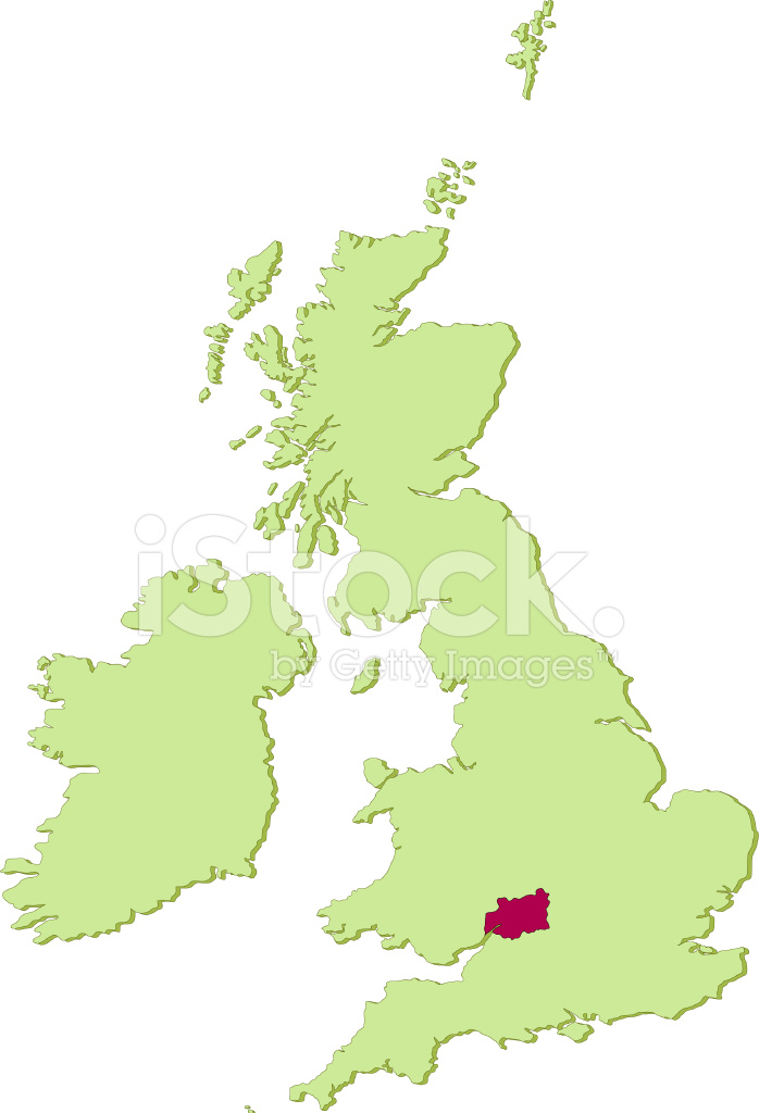 Uk Gloucestershire Map Stock Vector Freeimages Com