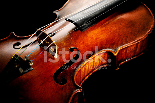 Old Violin on Black Background Stock Photos - FreeImages com