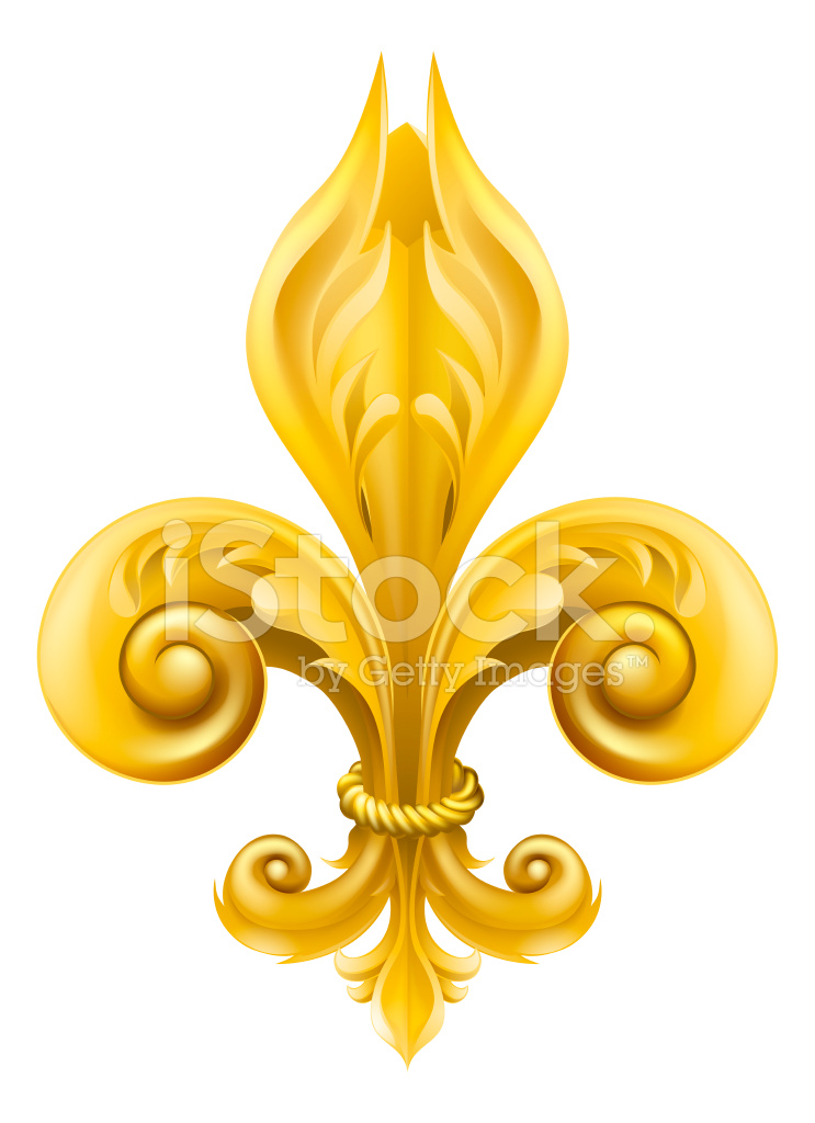 gold fleur de lis design stock vector freeimages com Free Clip Art for Medical Use Free Clip Art Medical Icons