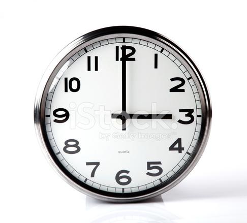 klocka på väggen