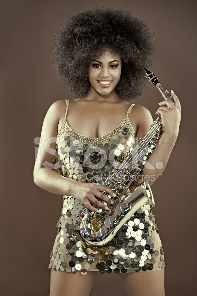 black woman sax