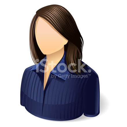 Lady User Icon Stock Vector Freeimages Com