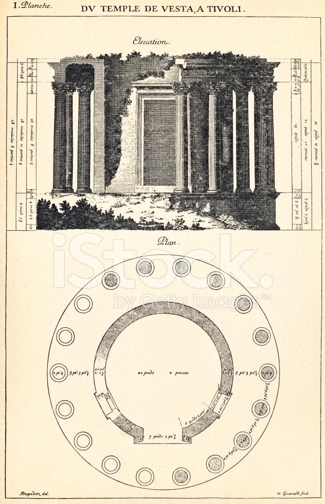 Arquitectónico VestaEn El De Desde Vector Templo Fondo Stock qSzUGMVp