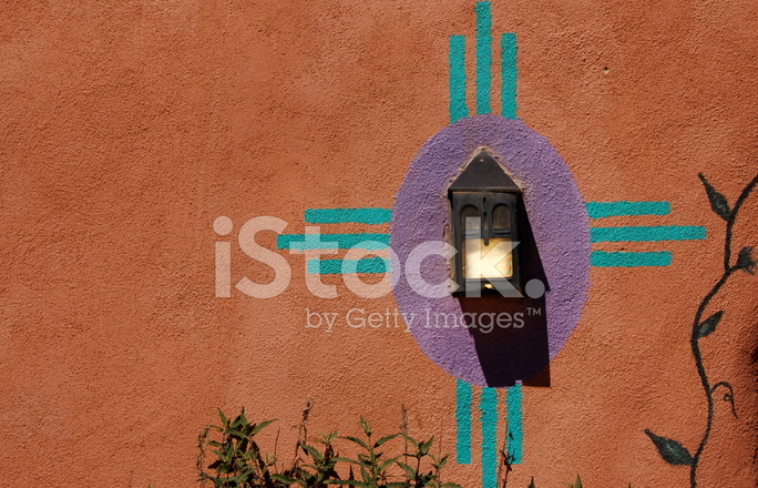 Zia Symbol On Adobe Wall Stock Photos Freeimages