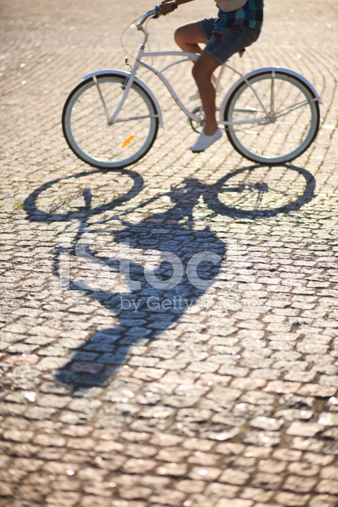 Man Riding on Vintage Bicycle BY Road Stock Photos - FreeImages com
