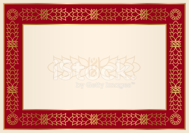 Certificate / Diploma Background Red Frame, Gold Flo Stock Vector ...
