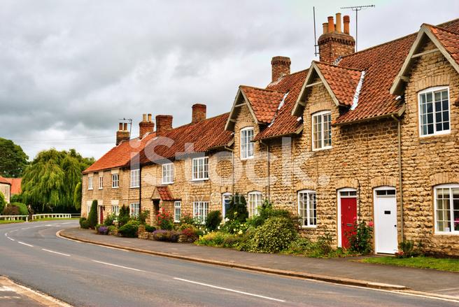 Quaint Row of English Village Houses stock photos ... Quaint English Village
