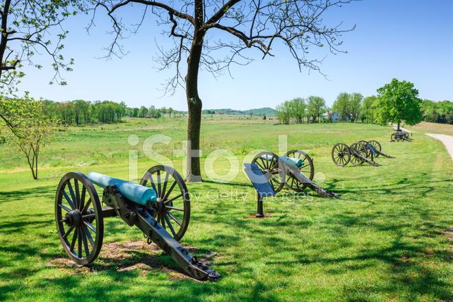 게티스버그 국립 군사 공원 대포 스톡 사진 - FreeImages.com