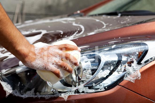Ein Auto Waschen Stockfotos Freeimages Com