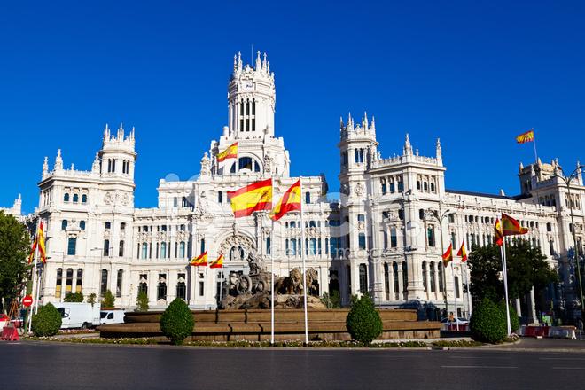 Cibeles Fountain And Palacio De Comunicaciones Madrid