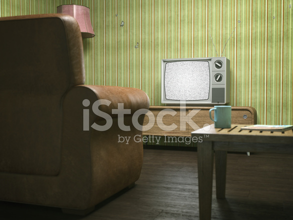 Vintage Television In Retro Wohnzimmer Stockfotos Freeimages Com