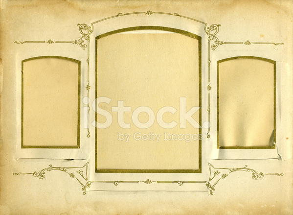 old fashioned album page stock photos