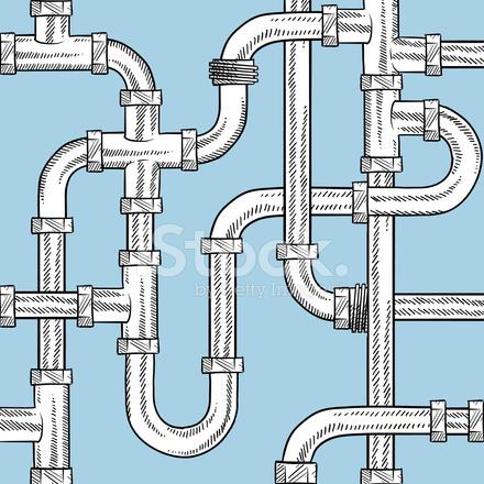 Seamless Plumbing Pipes Vector Background stock photos ...  Seamless Plumbi...