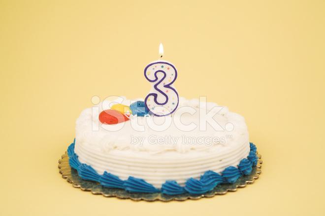Birthday Cake Number Series  Stock Photos FreeImagescom - 3 birthday cake