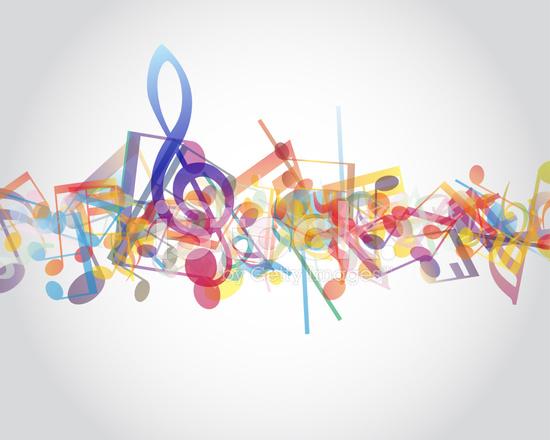 Multicolour Muzik Notalari Stock Vector Freeimages Com