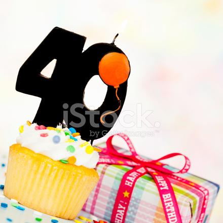 Happy 40th Birthday Stock Photos