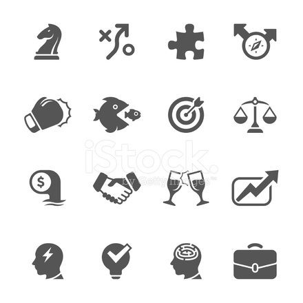 Business Strategy Icon Set Unique Series 869768