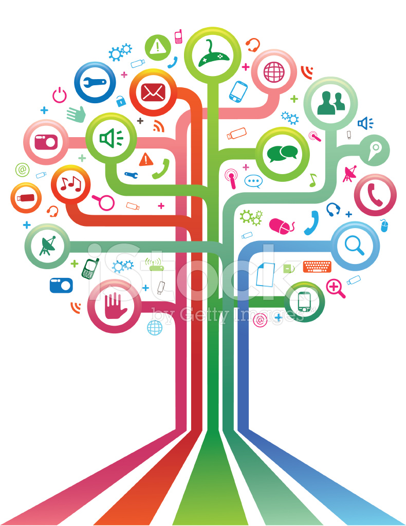 social network tree stock vector freeimages com free wildlife clipart Wildlife Clip Art